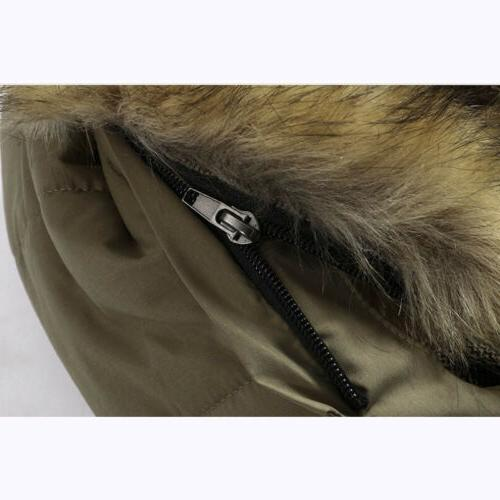 Men's Hooded Fur Warm Casual