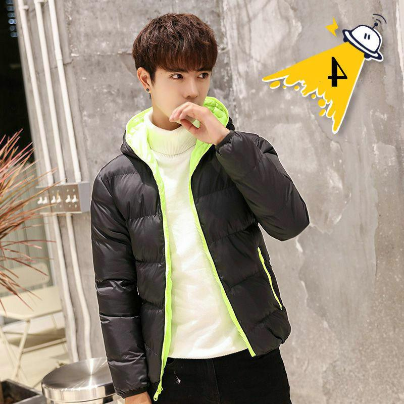 Men's Hooded Jacket Thick Warm Parka Outerwear Loose