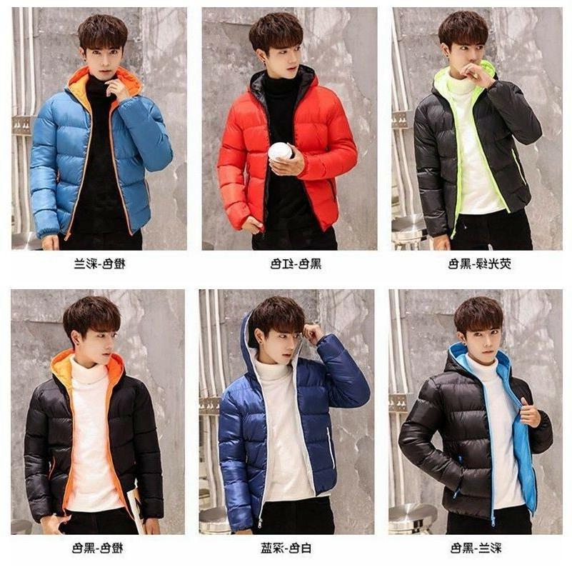 men s hooded puffer coats jacket thick