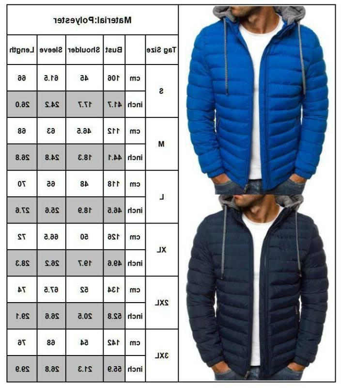 Men's Bubble Quilted Hoodie Outerwear