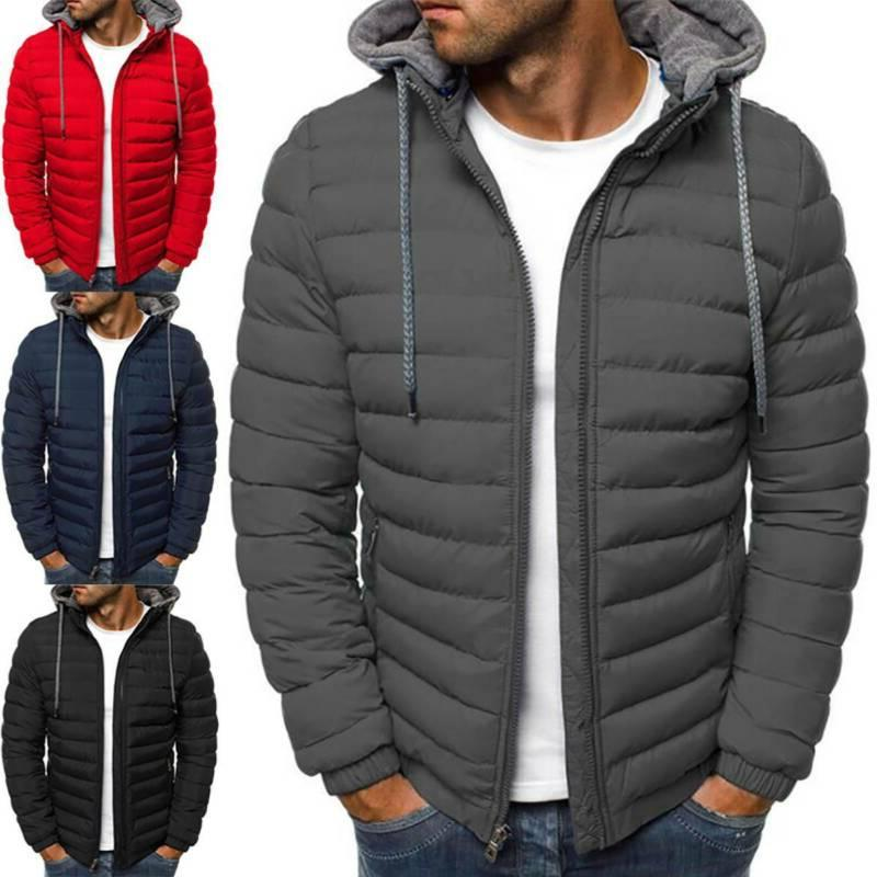 Men's Coat Quilted Hoodie Outerwear