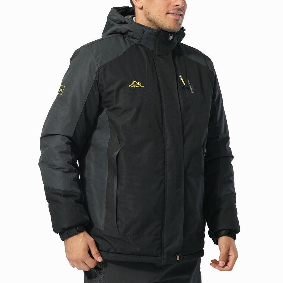 Men's Winter Jackets Hiking Parka Fleece Coats
