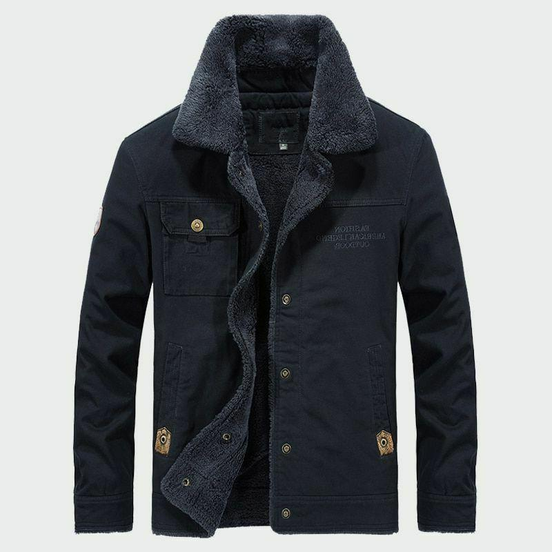 Men's Thick Fleece Winter Warm Casual Hooded Thermal Parka Jackets