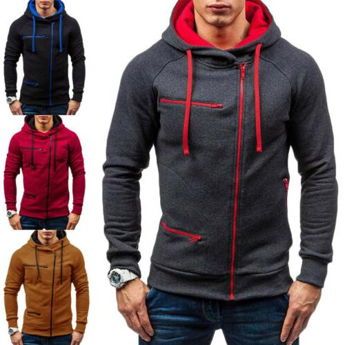 Men's Warm Hoodie Sweatshirt Jumper Winter Sweater