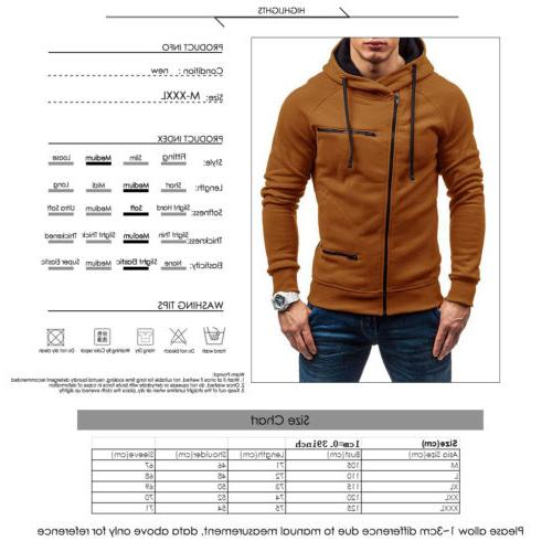 Men's Warm Sweatshirt Coat Jumper Winter