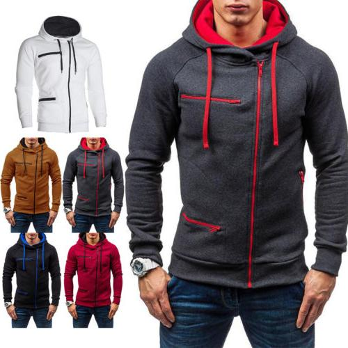 Men's Hoodie Hooded Sweatshirt Coat Jacket Jumper