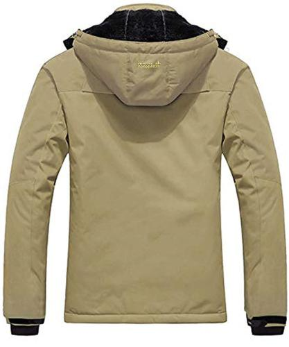 Pooluly Men's Rain Fleece Ski