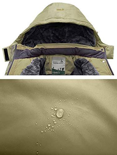 Pooluly Men's Rain Snow Fleece Ski Coat
