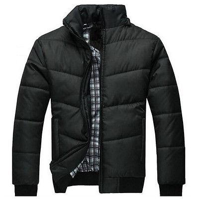 Mens Jacket Warmer Overcoat Hooded Down Winter