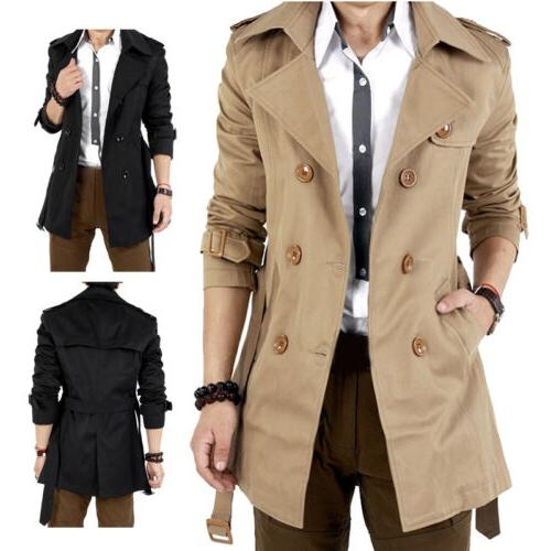 Men's Winter Slim Breasted Jacket Outwear