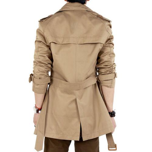 Men's Breasted Coat Jacket Brown