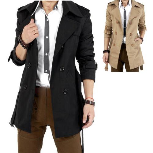 Men's Winter Breasted Jacket Overcoat
