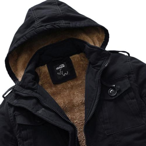 Cotton Coat with Removable Hood