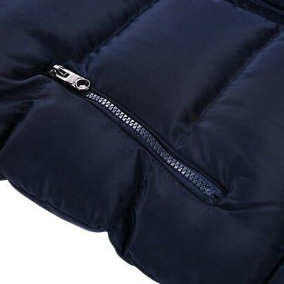 Men's Quilted Padded Jacket Coat