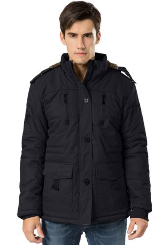 HENGJIA Men's Fleece Coats Detachable Windbreaker