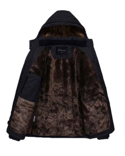 HENGJIA Winter Fleece Lined Coats with Detachable