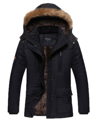 men s winter warm fleece lined coats