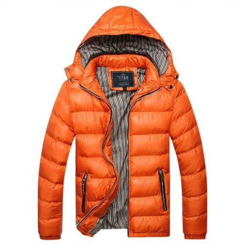 Men's Winter Warm Hooded Thick Casual US