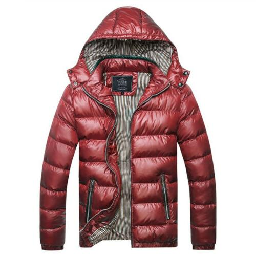 Men Bubble Hooded Coat Winter