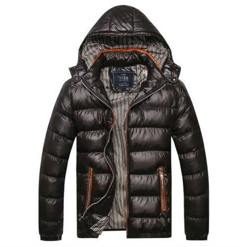 Men Padded Puffer Bubble Hooded Winter