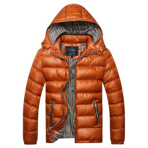 Men Quilted Bubble Coat Winter Jacket