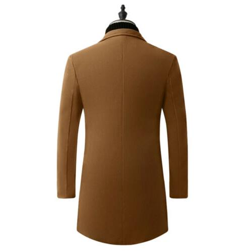 Men's Warm Trench Coat Casual Overcoat Outwear Suit