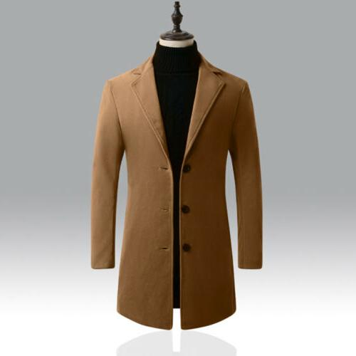 Men's Winter Trench Casual Slim Overcoat Jacket Suit