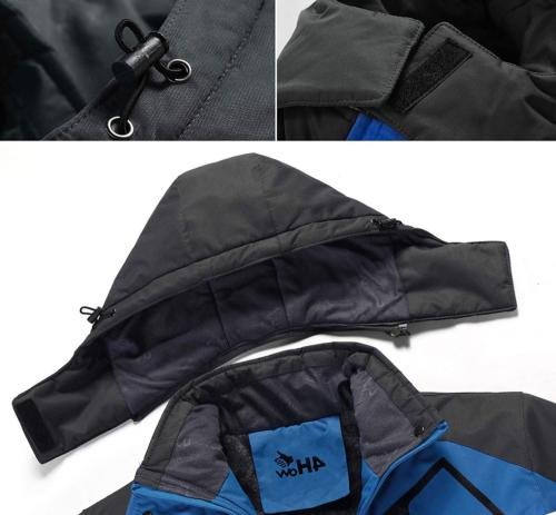 4HOW Waterproof Snow with Hood Winter Sport Rain Coats