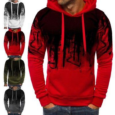 Men Warm Sweatshirt Coat Jacket