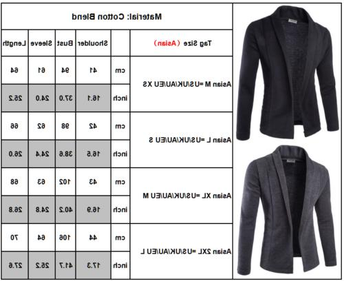 Men Sweater Slim Sleeve Knit Cardigan Suit