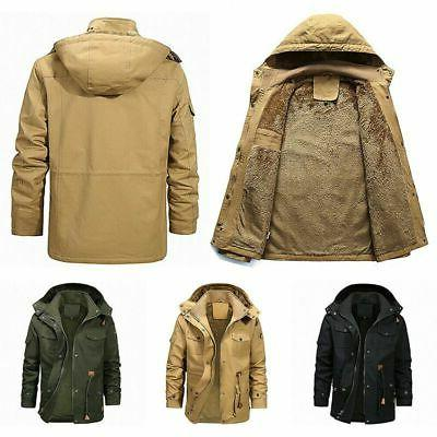 Men Lined Military Parka Tops