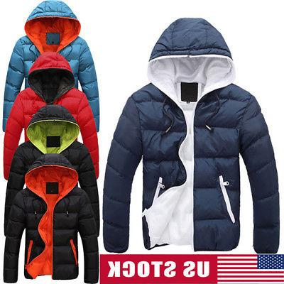 men winter warm cotton down jacket ski