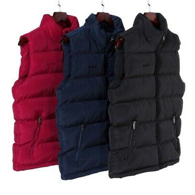 Men Quilted Vest Body Padded Coat USA