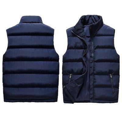 Men Winter Warm Down Quilted Vest Padded USA