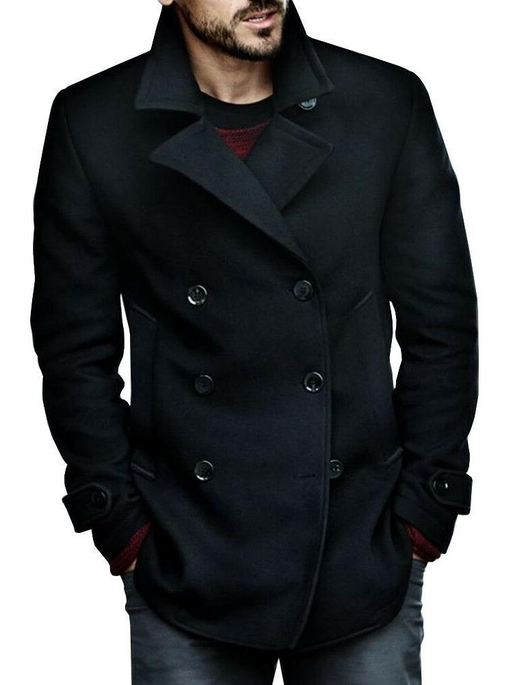 Mens Blend Double Breasted Winter Button