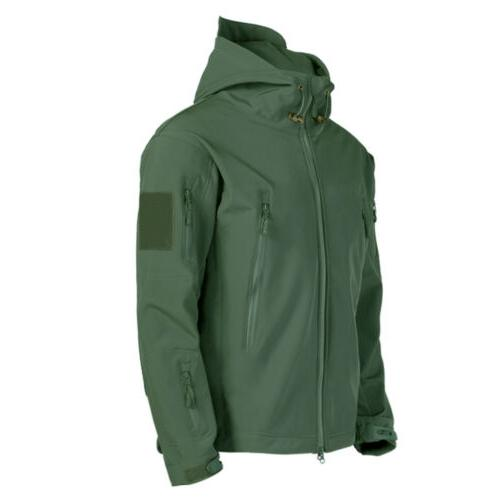 Mens Military Tactical Winter Warm Hooded
