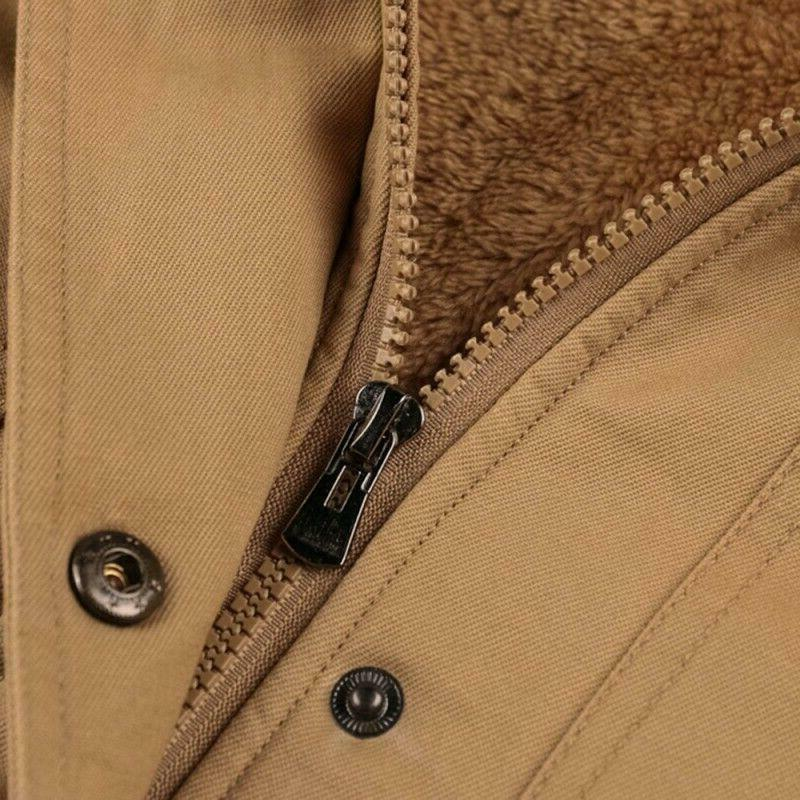 Men's Lined Winter Coats Military Thick Outerwears