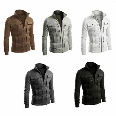 Mens Stand Collar Jacket Hot US