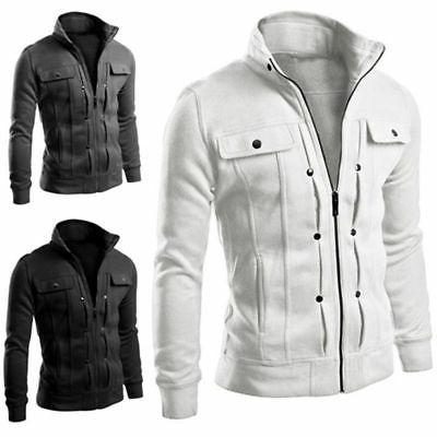 Mens Collar Coat Top Military Jacket Winter Outwear Hot US
