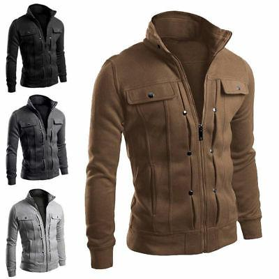 Mens Stand Collar Jacket Winter Hot