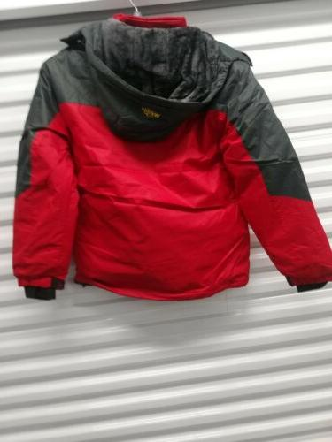 Wantdo Coat, Red/Grey Size