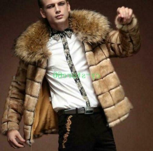 Mens Winter Jackets Faux Outwears Warm Clothes Fashion
