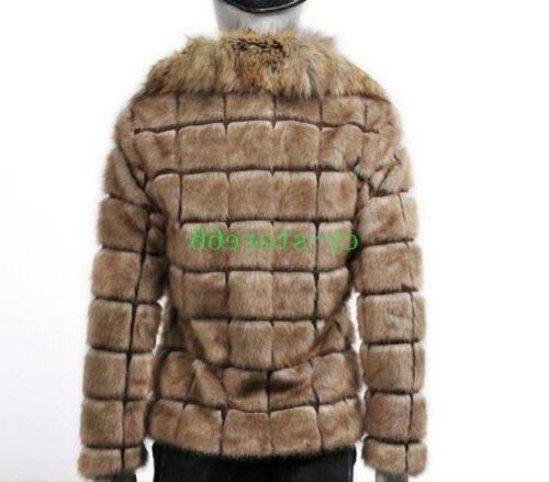 Mens Jackets Faux Collared Outwears Warm Clothes