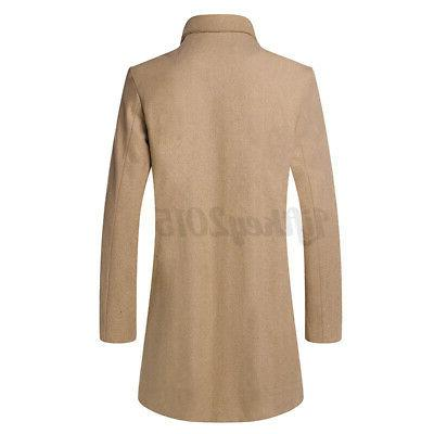 Mens Trench Breasted Peacoat