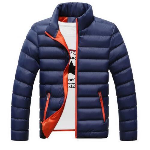 Men's Winter Down Coat Collar Outerwear Casual