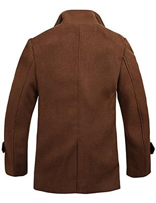 Match Wool Classic Coat Coats Brown,