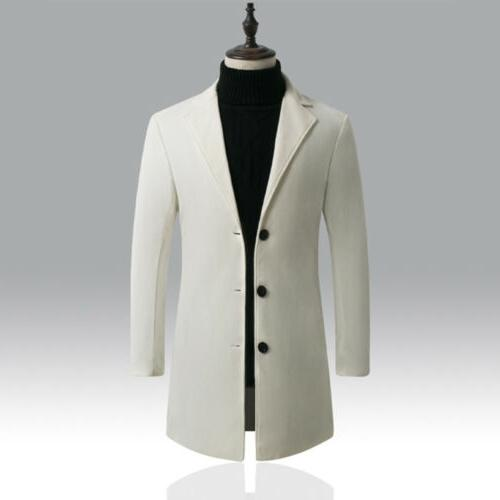 Mens Wool Button Jacket