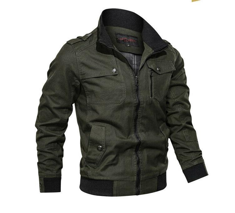 Military Autumn Windbreaker Pilot Coat