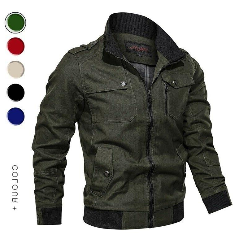 Autumn Windbreaker Coat Army