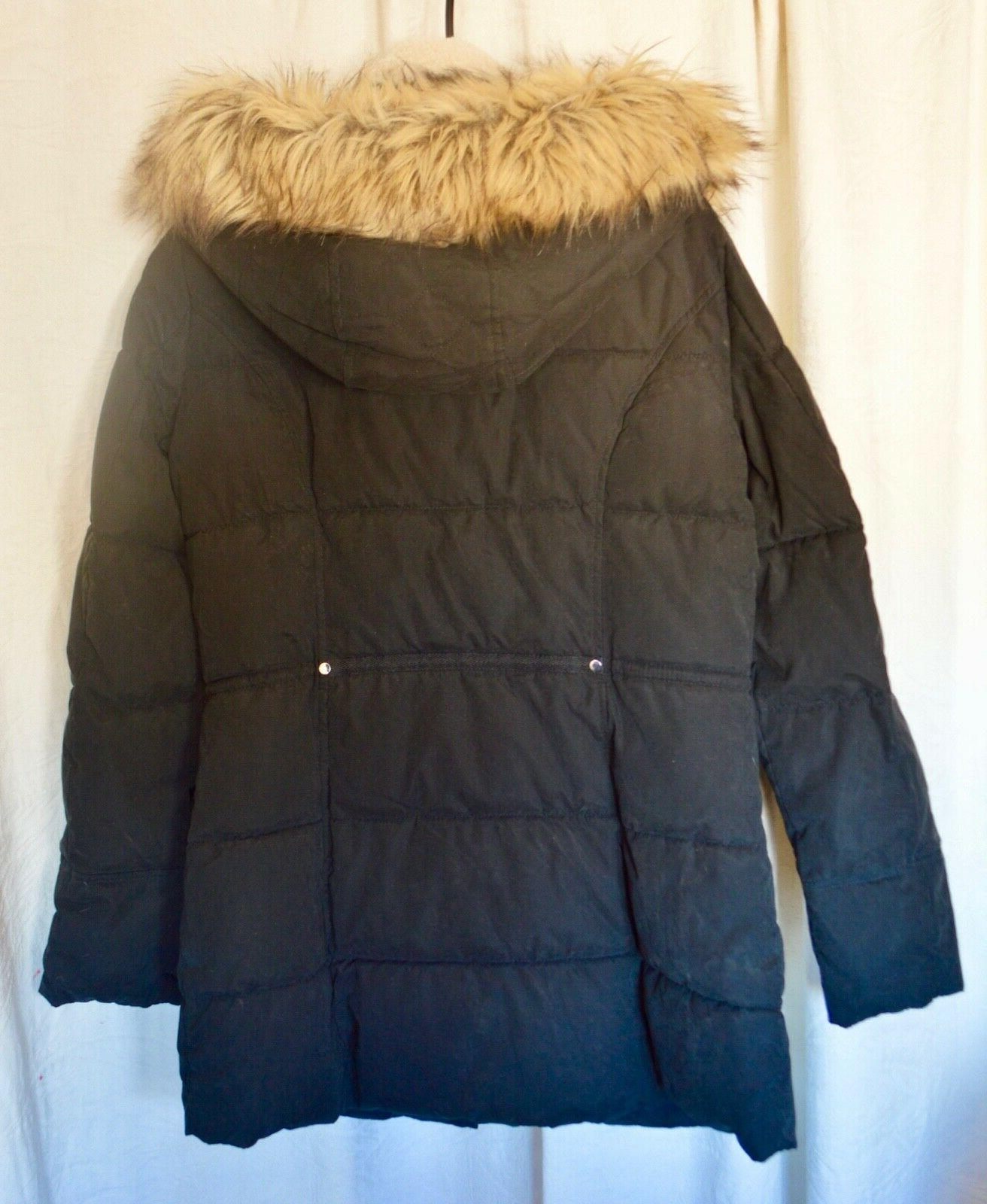 NEW A.N.A. Women's Fur Trim SOFT Parka winter MEDIUM